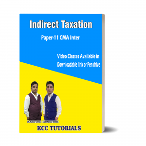 Best CMA Inter Indirect Taxation Video Lectures in India