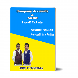 Best Company Accounts and Audit CMA Inter Video lectures in India