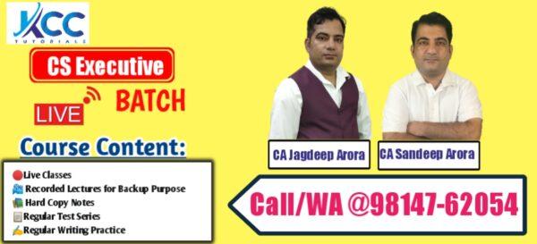 Best CS Executive Live Online Classes in India