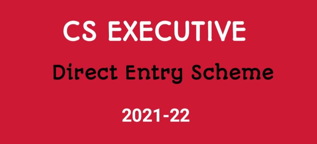 CS Executive Direct Entry Scheme